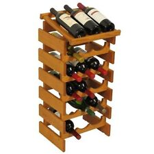 Wooden Mallet 18 Bottle Dakota Wine Rack with Display Top Medium Oak NEW