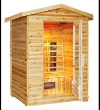 Luxury 2-Person Outdoor Infrared Sauna-7 Year Warranty!