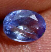 100% Natural Violet Blue Tanzanite Gem Stone 1.00 Ct AGSL Certified Oval Cut