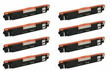 8pk CE310A Black Toner Cartridge for HP Color LaserJet Pro 100 M175a MFP