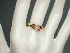 Trilogie-Ring 585 (14K) Rosè Gold um 1900 Jugendstil - Gr. 51,5