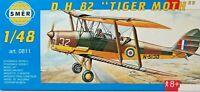 """SMER D.H.82 """"Tiger Moth"""", Großbritannien,Doppeldecker, Bausatz 1:48,0811,OVP,NEU"""