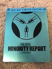 Minority Report SteelBook Rare Version ( Bluray-All Region),J Card. Ships In Box