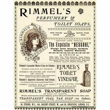 Retro Rimmels Vintage Advertising Perfume Soap Toilet Bathroom Shop Metal SIGN