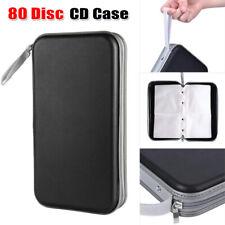 80 Disc CD DVD Portable Storage Case Cover Wallet Hard Box Car Bag Holder Black