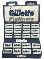 10x Gillette 7 O Clock Super Platinum Smooth Double Edge