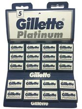 100 Gillette Platinum double edge razor blades