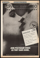 ENDLESS LOVE__Original 1981 Trade print AD/ poster__BROOKE SHIELDS_MARTIN HEWITT