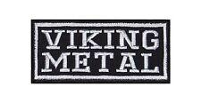 Viking Metal Heavy Biker Rocker Patch Aufnäher Bügelbild Musik Kutte Badge T4