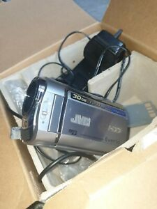 JVC Everio G hard disk camcorder GZ-MG330 HDD micro SD 35x zoom box and manuals