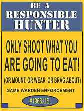 METAL HUNTING SIGN  / duck commander / Game call
