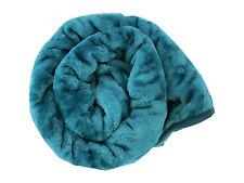 Grande Turquesa piel de visón Cama Cobertor 150 X 200