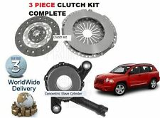 FOR JEEP COMPASS 2.0 DIESEL 2006-> 3 PIECE CLUTCH KIT & CONCENTRIC SLAVE BEARING