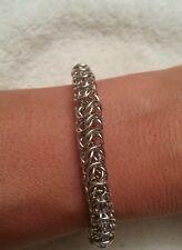 Handmade box 6mm silver chain maille bracelet. NWOT custom sizes