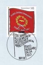 BRD 2013: Arbeiterverein 150 Jahre Nr 2997 mit Bonner Ersttagsstempel! 1A! 1706