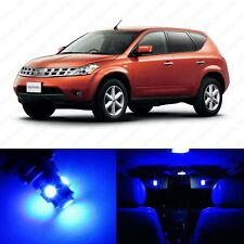 11 x Ultra Blue LED Interior Light Package For 2003 - 2008 Nissan Murano