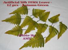 Artificial Silk Fern Leaves Autumn Green Wedding Craft 150pcs