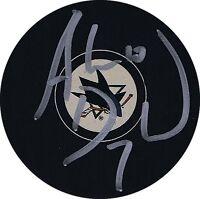 "ANDREW DESJARDINS Signed SAN JOSE SHARKS Puck w/COA ""NEW"" #3"
