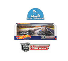 Hot Wheels Premium Team Transport Black Hole Gasser Diorama Garage Set