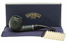 Savinelli Arcobaleno 626 Green Tobacco Pipe - Rustic