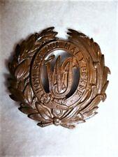 West India Regiment Officer's Bronze Helmet / Pagri Badge, Post 1881