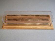 3 Level Wood Base N  Scale Display Case with Track