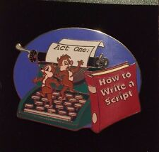 "Chip n Dale Typewriter ""How to Write a Script"" DA Disney Auctions (P.I.N.S.) Pin"