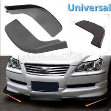2Pcs Universal Car Bumper Spoiler Front Shovel Protector Scratch Resistant Wing