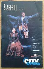 La Boheme Playbill programme New York City Opera 3rd April 1999 Jorge Lagunes