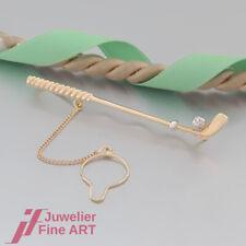 Krawattenklammer 'Golfschläger' - Krawattenhalter - ohne Besatz - 18K/750 Gold