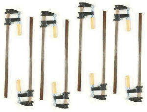 """Set of 8- EDM, 18"""" Steel Bar Clamp Tool, Ratchet Quick Release for Metal or Wood"""