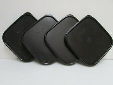 4 New Tupperware Modular Mates Square BLACK Seal Replacement MM Lid Cover #1623