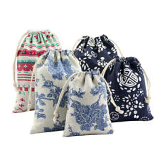 Jewelry Coin Pouch Print Drawstring Gift Bag Cotton