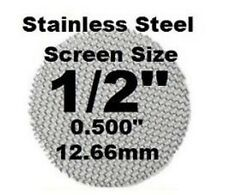 """5 Stainless Steel Screens 1/2"""" 12.7mm Fine Mesh MADE IN THE USA"""