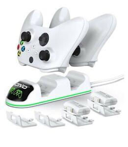 OIVO Xbox One Controller Dual Charging Station white W/2-600mAh batt. Brand new