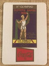 10th Olympiad Los Angeles 1932 Poster Coaster sponsored by Coca Cola