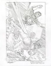 Mike Mayhew Original BATMAN/SUPERMAN #6 Variant Cover Sketch A