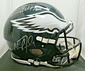 Nick Foles Carson Wenz Signed Eagles Super Bowl Full Size Helmet Fanatics COA