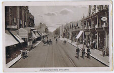 BOSCOMBE Christchurch Road Busy Street Scene, RP Postcard Posted c1910