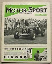 MOTOR SPORT Magazine July 1938 LE MANS French Grand Prix ALVIS 12/70 TESTED