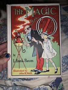 Vintage WIZARD OF OZ-L. Frank Baum THE MAGIC OF OZ BOOK-1960s-John R. Neill