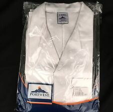 Portwest White Standard Cotton Unisex Lab Coat Size XS C851 Extra small