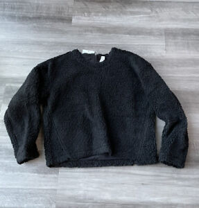 Lululemon Wool Whenever Crew Black Sweater 6 NWT $128