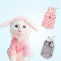 Pet Spring Clothes Dog Cat Cute Bunny Ears Hoodie Sweater Warm Coat Puppy Jacket