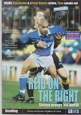 Programme / Programma Milwall FC v Reading 12-12-1998