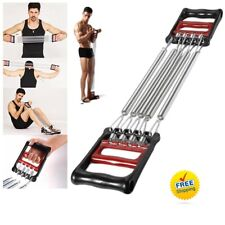 5 Metal Resistance Chest Expander Bands Tube Sport Body Exercise Workout Gym