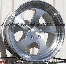 18x10 Rims Varrstoen MK2 5x100 +30 Machined Wheels Fits Jetta Matrix Corolla Frs
