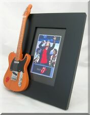 ROLLING STONES Miniature Guitar Frame Mick Jagger Keith Richards