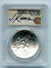 2020 P $1 Basketball Hall of Fame Silver Commemorative PCGS MS70 FS Justin Kunz