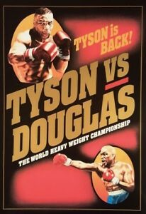 MIKE TYSON vs BUSTER DOUGLAS 8X10 PHOTO BOXING POSTER PICTURE